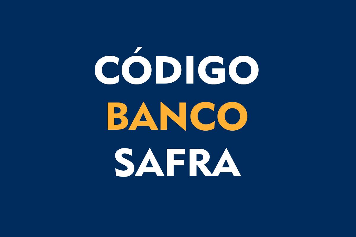 Código Banco Safra