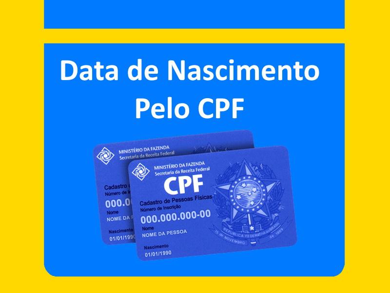 Data de Nascimento Pelo CPF
